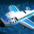 Inflatable Airplane in the Water — Stock Photo