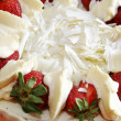 Top of strawberry shortcake — Stock Photo