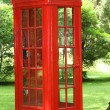 Red telephone booth — Stock Photo #27440045
