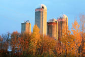 Four Grain Silos — Stock Photo