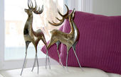 Reindeers and pillows decor — Stockfoto