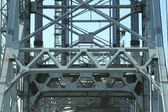 Girder and framing structure on bridge — Stock Photo