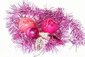 Christmas pink decorations. — Stock Photo