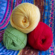 Three tangle of yarn for knitting. — Stock Photo #18901801