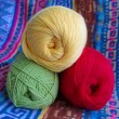 Three tangle of yarn for knitting. - Stock Photo