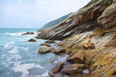 Seaside with great rocks at china — Stock Photo