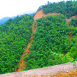 Stock Photo: Road come across mountainside
