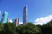 Landmark building of south chinese city Shenzhen — Foto de Stock