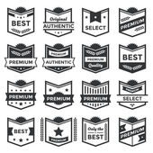 Modern Vector Badge Shields and Label Collection — Stock Vector