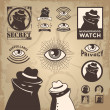 Sketchy Criminal, Surveillance Agent, and Privacy Spy — Imagen vectorial