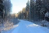 Winter-straße — Stockfoto