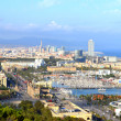 Bird s eye view of the Barcelona, Spain — Stock Photo