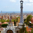 Park Guell Antoni Gaudi in Barcelona, Spain — Stock Photo