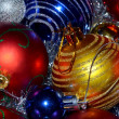 Photo: Colorful Christmas Balls as background