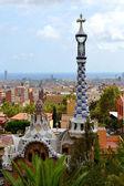 公园 guell 公园安东尼高迪在巴塞罗那,西班牙 — 图库照片