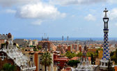 Park Guell Antoni Gaudi in Barcelona, Spain — Stock Photo