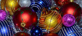 Colorful Christmas Balls as a background — Stock Photo