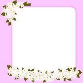 Hochzeit Karte mit Platz für Ihren Text mit Blumen verziert — Stockvektor