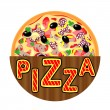 Royalty-Free Stock Vector Image: Pizza Menu Template, Pizza icon, vector illustration