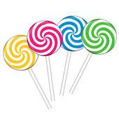 Set with different colorful lollipops, vector illustration — Stock Vector