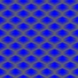 Blue vector cube seamless pattern - Stock Vector