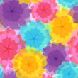 Seamless pattern - colorful flowers — Stock Vector