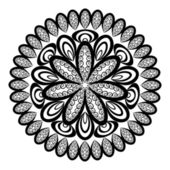 Ornamento do círculo abstrato, guardanapo openwork, vetor — Vetorial Stock