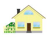 Ilustración vectorial del icono casa aislada sobre fondo blanco — Vector de stock