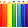 Background with colored pencils. Vector illustration — Stock Vector