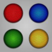 Düğmeler, öğeleri yuvarlak — Stok Vektör