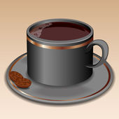 Cup of coffee, vector illustration. — Stock Vector