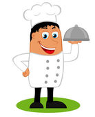 Illustration of a chef — Stock Vector