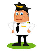 A pilot on a white background, vector — Stock Vector