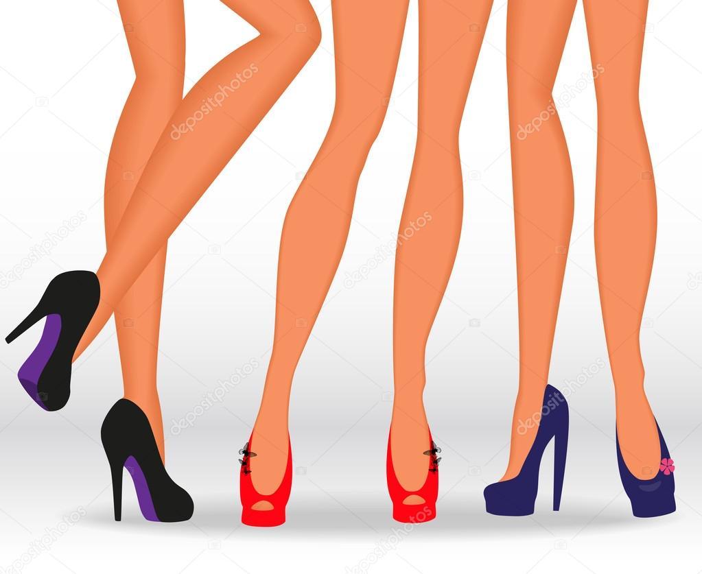 Фотографии женских ножек в босоножках и туфельках