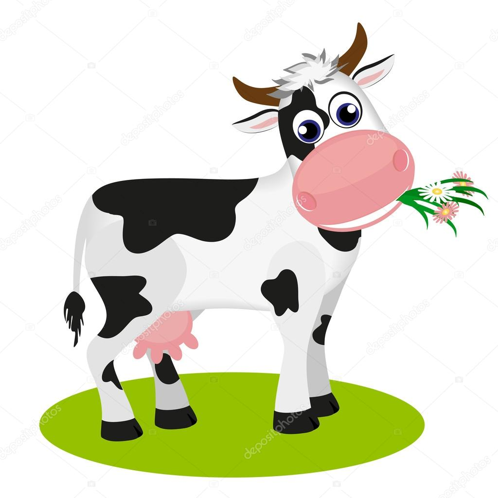 cute cow clipart black and white