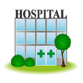 Vector icon hospital — Stock Vector