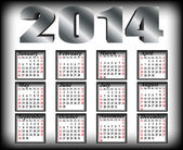 Calendar to a new 2014 year — Stock Vector