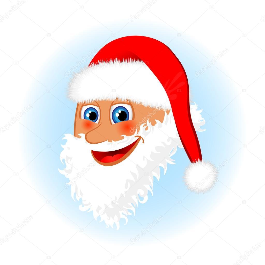 Christmas santa claus face
