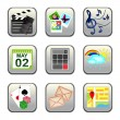 Set of social multimedia icons for design - set 2 — Imagen vectorial