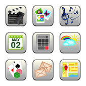 Set of social multimedia icons for design - set 2 — Stock Vector