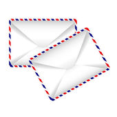 Vector icon - two envelopes — Stok Vektör