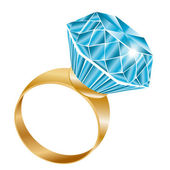 Shiny diamond ring, vector illustration — Stockvector