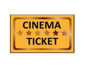 Ticket d'un cinéma. icône de vecteur. — Vecteur