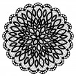 Stock Vector: Lace doily with flowers