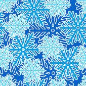 бесшовный фон со снежинками — Cтоковый вектор