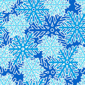 Seamless pattern with snowflakes — ストックベクタ