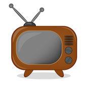 Retro tv ikonu, vektor — Stock vektor