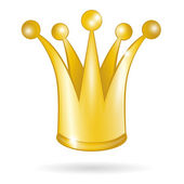 Gold princess crown isolated on a white background — Vetorial Stock