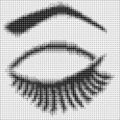 Eye closed with halftone effect — Vecteur
