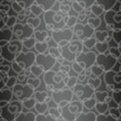 Seamless pattern with hearts, vector — Stock Vector